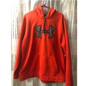 Orange Under Armour men's hoodie Size XL